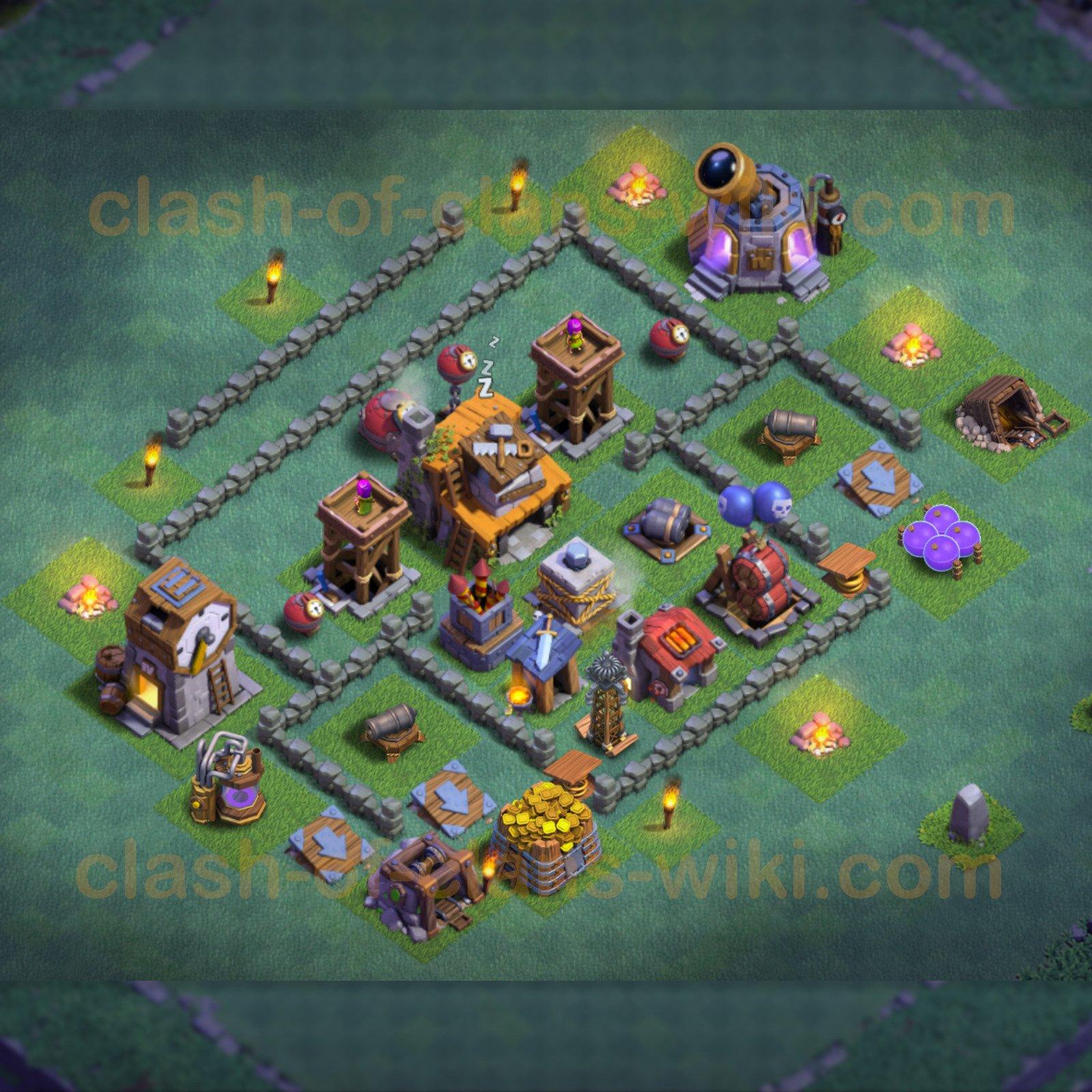 Maison des ouvriers niveau 9 Base - MDO 9 / HDV 9 - Clash of Clans