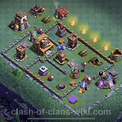 Best Builder Hall Level 4 Max Levels Base with Link - Copy Design 2021 - BH4 - #45