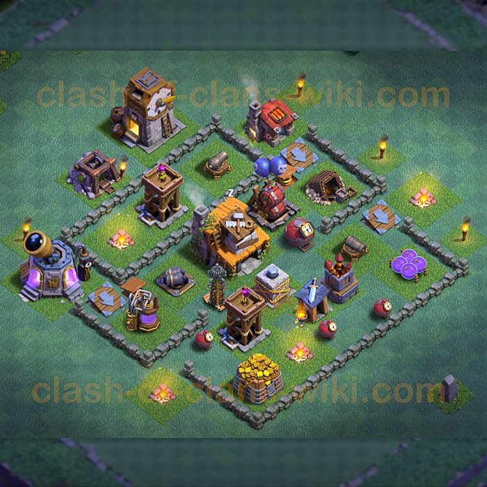 Die Layout Meisterhütte Level 4 - BH Level 4 - Variant 5 - Clash of Clans 2019