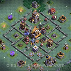 Best Builder Hall Level 5 Anti 2 Stars Base with Link - Copy Design 2021 - BH5 - #89