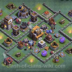 Best Builder Hall Level 5 Anti Everything Base with Link - Copy Design 2021 - BH5 - #92