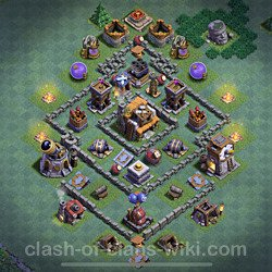 Best Builder Hall Level 5 Anti 3 Stars Base with Link - Copy Design 2021 - BH5 - #93