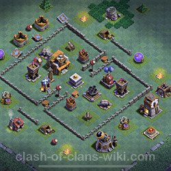 Best Builder Hall Level 5 Anti Everything Base with Link - Copy Design 2021 - BH5 - #95