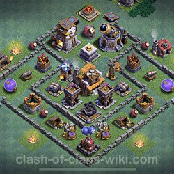 Best Builder Hall Level 5 Anti 2 Stars Base with Link - Copy Design 2021 - BH5 - #97