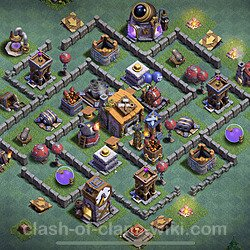Unbeatable Builder Hall Level 6 Base with Link - Copy Design 2020 - BH6 - #16