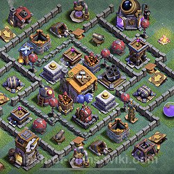 Best Builder Hall Level 6 Anti 2 Stars Base with Link - Copy Design 2020 - BH6 - #17