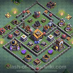 Best Builder Hall Level 6 Anti 3 Stars Base with Link - Copy Design 2020 - BH6 - #18
