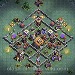 Best Builder Hall Level 6 Anti Everything Base with Link - Copy Design 2020 - BH6 - #19