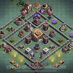 Best Builder Hall Level 6 Anti Everything Base with Link - Copy Design 2020 - BH6 - #21