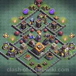 Best Builder Hall Level 6 Anti Everything Base with Link - Copy Design 2020 - BH6 - #54