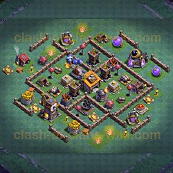 One of the Best Base Layouts Builder Hall 6 - Anti 2 Stars 2019