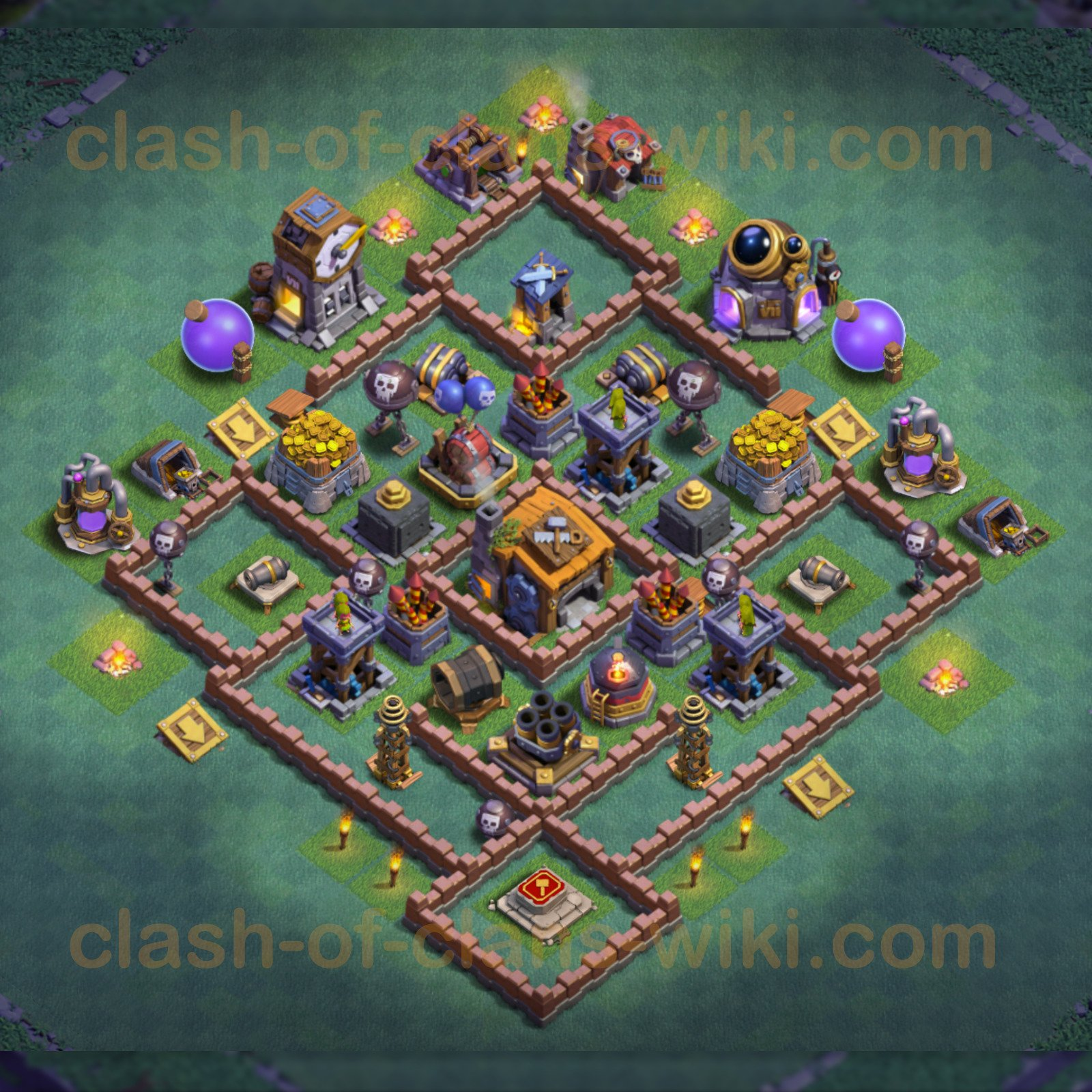 Best Builder Hall Level 7 Base Clash Of Clans Bh7 3