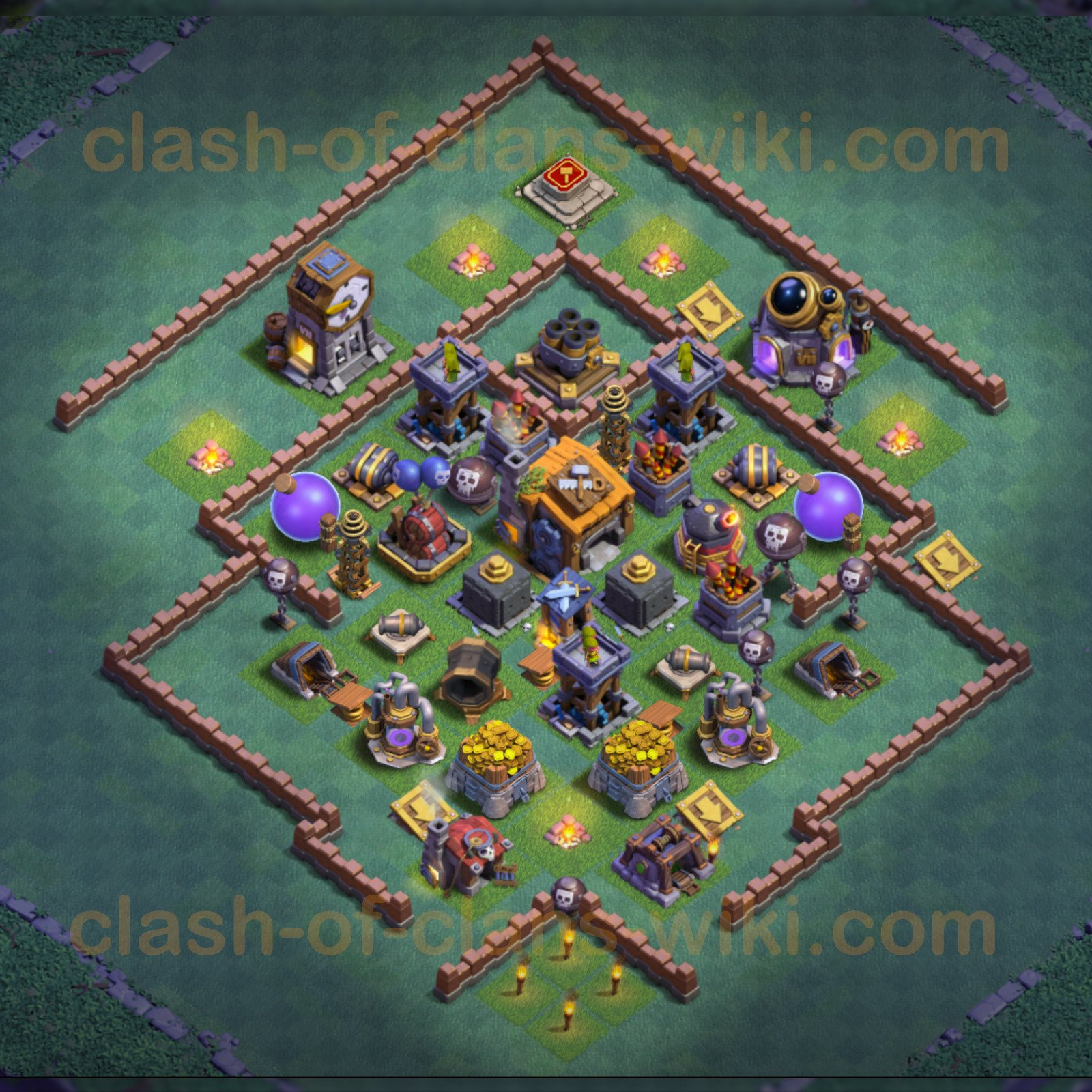 Best Builder Hall Level 7 Base Clash Of Clans Bh7 4
