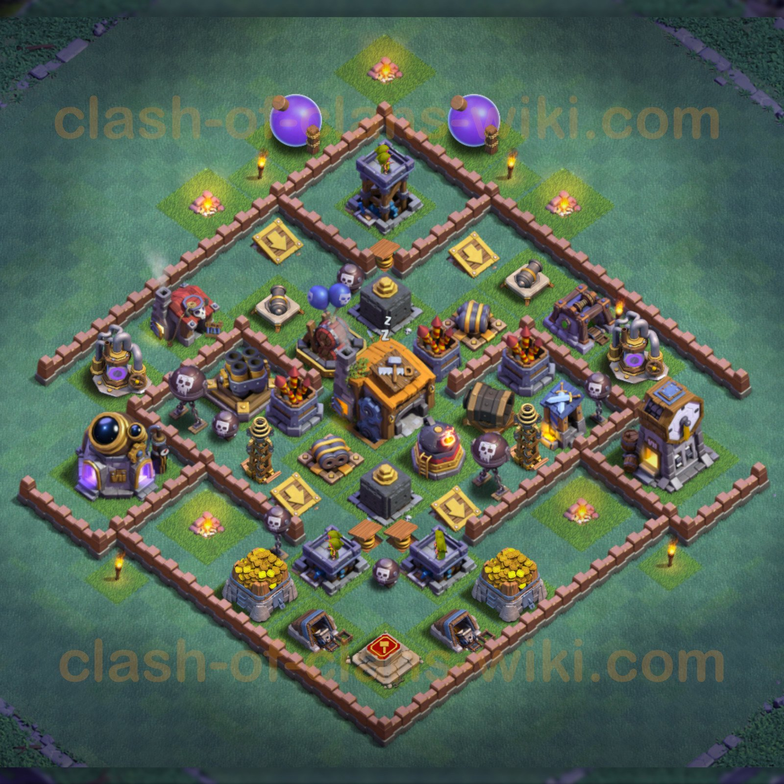 Best Anti 3 Stars Base Builder Hall 7