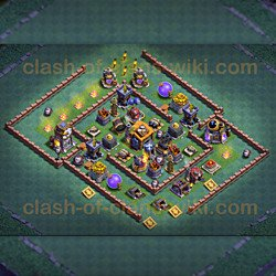 One of the Best Base Layouts Builder Hall 7 - Anti 2 Stars
