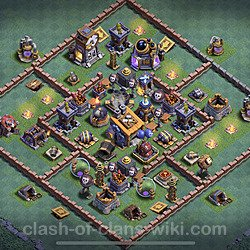 Best Builder Hall Level 8 Anti 2 Stars Base with Link - Copy Design 2020 - BH8 - #13