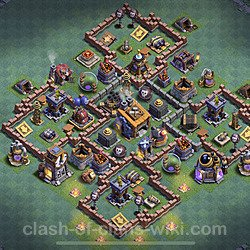 Best Builder Hall Level 8 Anti 3 Stars Base with Link - Copy Design 2020 - BH8 - #14