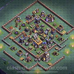 Best Builder Hall Level 8 Anti Everything Base with Link - Copy Design 2020 - BH8 - #15