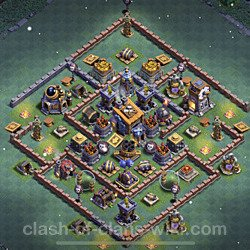 Best Builder Hall Level 8 Anti 3 Stars Base with Link - Copy Design 2021 - BH8 - #54