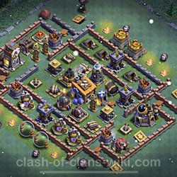 Best Builder Hall Level 8 Anti 2 Stars Base with Link - Copy Design 2021 - BH8 - #55
