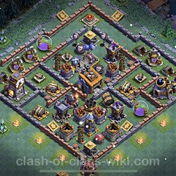 Best Builder Hall Level 8 Anti 2 Stars Base with Link - Copy Design 2021 - BH8 - #56