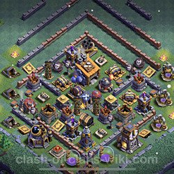Best Builder Hall Level 8 Anti 3 Stars Base with Link - Copy Design 2021 - BH8 - #57
