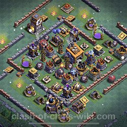 Best Builder Hall Level 8 Anti Everything Base with Link - Copy Design 2021 - BH8 - #58