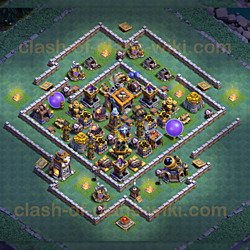 One of the Best Base Layouts Builder Hall 9 - Anti 2 Stars