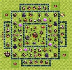 лучшие базы clash of clans расстановка th10 тх 10 ратуша уровень 10