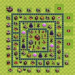 Base plan (layout), Town Hall Level 10 for trophies (defense) (variant 44)