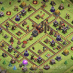 Base plan (layout), Town Hall Level 10 for trophies (defense) (#81)