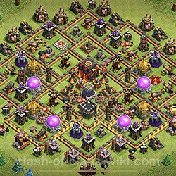 Base plan (layout), Town Hall Level 10 for trophies (defense) (#82)