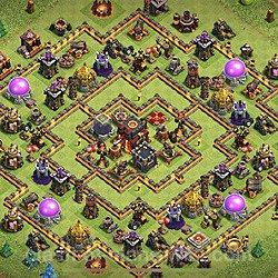 Base plan (layout), Town Hall Level 10 for trophies (defense) (#83)