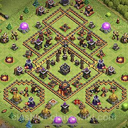Base plan (layout), Town Hall Level 10 for trophies (defense) (#85)