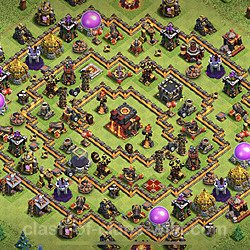 Base plan (layout), Town Hall Level 10 for trophies (defense) (#86)
