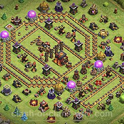 Base plan (layout), Town Hall Level 10 for trophies (defense) (#87)