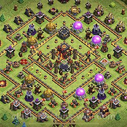 Base plan (layout), Town Hall Level 10 for trophies (defense) (#89)