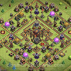 Base plan (layout), Town Hall Level 10 for trophies (defense) (#90)