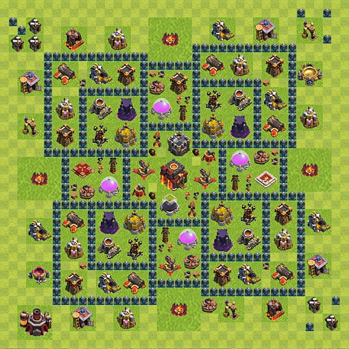 Best Bases Layouts Plans For Clash Of Clans Th 10 Town Hall