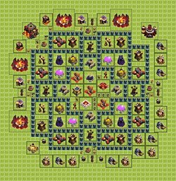 Base plan (layout), Town Hall Level 10 for farming (variant 2)