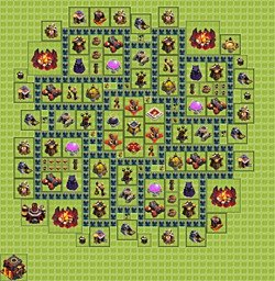 Base plan (layout), Town Hall Level 10 for farming (variant 3)