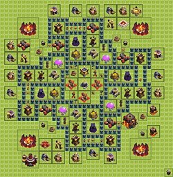 Base plan (layout), Town Hall Level 10 for farming (#4)