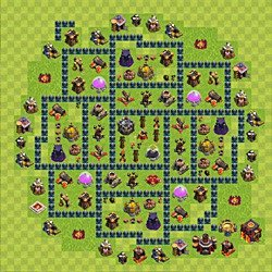 Base plan (layout), Town Hall Level 10 for farming (variant 47)