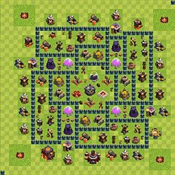Base plan (layout), Town Hall Level 10 for farming (variant 48)