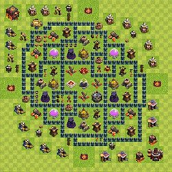 Base plan (layout), Town Hall Level 10 for farming (variant 49)