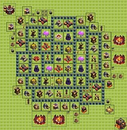 Base plan (layout), Town Hall Level 10 for farming (variant 5)