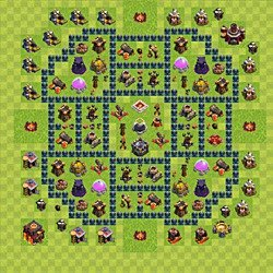 Base plan (layout), Town Hall Level 10 for farming (variant 51)