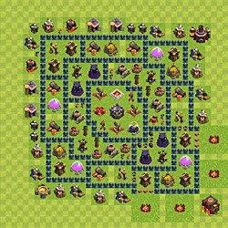 Base plan (layout), Town Hall Level 10 for farming (variant 53)