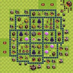 Base plan (layout), Town Hall Level 10 for farming (variant 54)