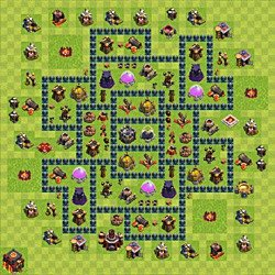 Base plan (layout), Town Hall Level 10 for farming (variant 55)